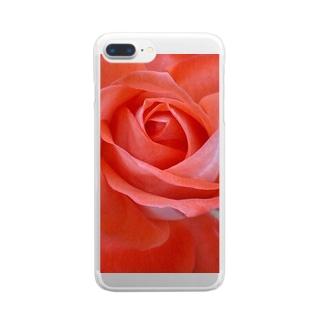 麗し気に Clear smartphone cases