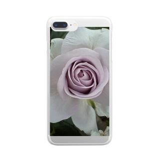 気品あふれるヴァイオレット Clear smartphone cases
