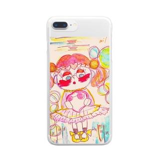 恋に悩める女の子 Clear smartphone cases