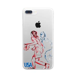 バスケ部3 Clear smartphone cases