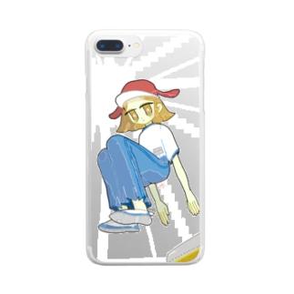 世間体跳び箱 Clear smartphone cases