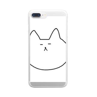 ねっこさんのクリアスマートフォンケース Clear smartphone cases
