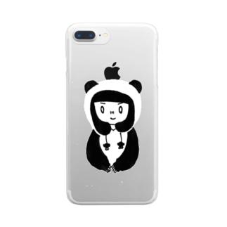 🐼パンダガール iPhone6-plus・7-plus用 クリアスマートフォンケース