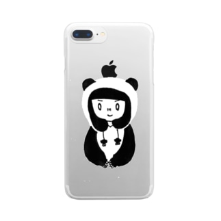 🐼パンダガール iPhone6-plus・7-plus用 Clear smartphone cases
