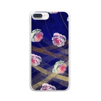 バラのイラスト Clear smartphone cases