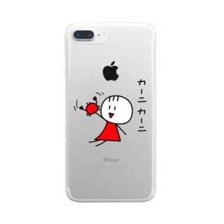 MaRu×2 カーニカーニ クリアスマートフォンケース