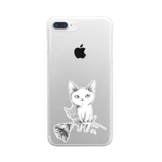 シロネコ宅急便 Clear smartphone cases