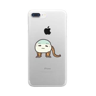 虎子石くん Clear smartphone cases