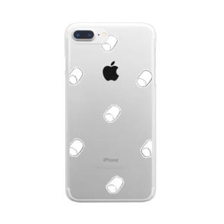 マシュマロ雲 Clear smartphone cases