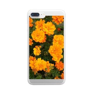 イエローオレンジ Clear smartphone cases