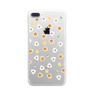 おにぎりでピクニック! Clear smartphone cases