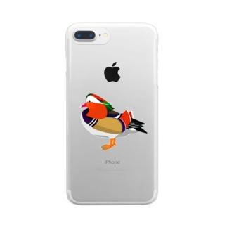 オシドリ Clear smartphone cases
