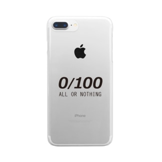 All or Nothing  0/100 Clear smartphone cases
