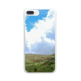 レンゲツツジの霧ヶ峰 Clear smartphone cases