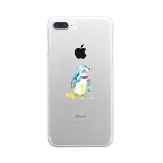 水彩ペンギン Clear smartphone cases