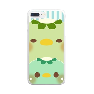 chackmo カッパ Clear smartphone cases