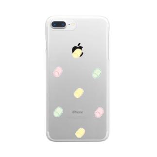 rasoのフルーツマシュマロ艦隊 Clear smartphone cases