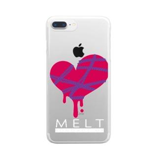 MELT-DARK- Clear smartphone cases