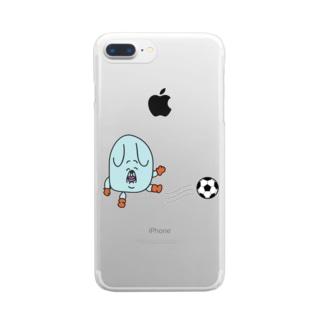 イヌマンサッカー Clear smartphone cases