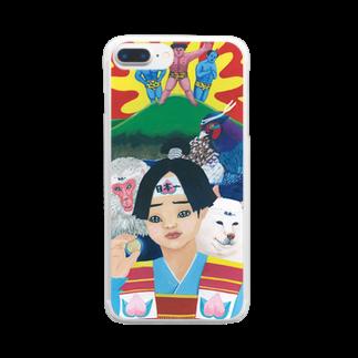 TAKAKO OOKIの桃太郎 Clear smartphone cases