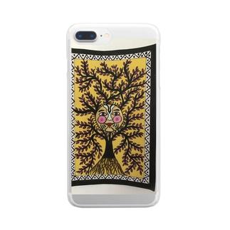 マドゥバニアートギャラリー Clear smartphone cases