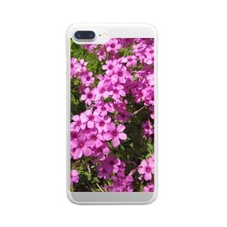 Dreamscapeの野の花の可憐さ・・・ Clear smartphone cases