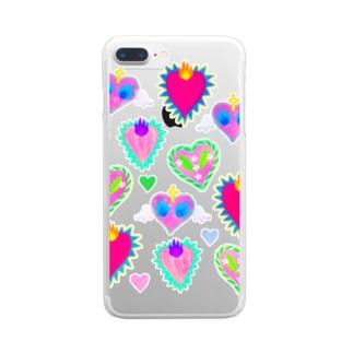 Hearts!!!!Corazon!!!! Clear smartphone cases