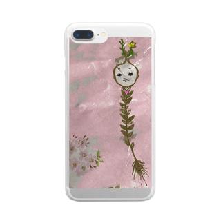 花見の殿 Clear smartphone cases
