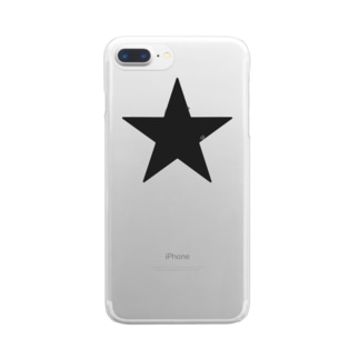 Black Star Clear smartphone cases