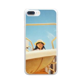 るんげ3歳 Clear smartphone cases