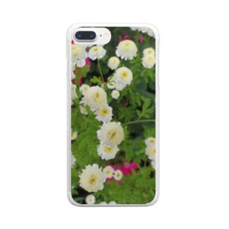 ホワイトミッション Clear smartphone cases