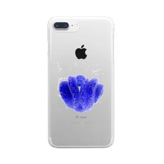 色彩反転グリーンパイソン Clear smartphone cases