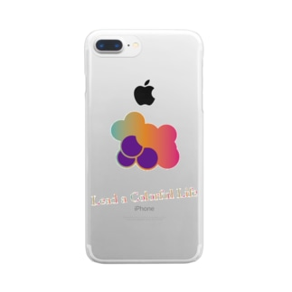 Colorful Grapes ver2.0 Clear smartphone cases