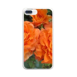 ローズNo.5 Clear smartphone cases