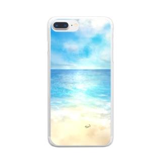 海辺 クリアスマートフォンケース