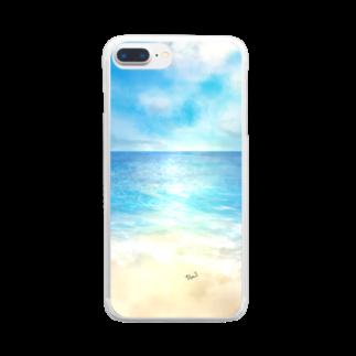 ☆tm3☆の海辺 クリアスマートフォンケース