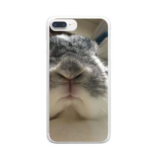ウサマニア Clear smartphone cases
