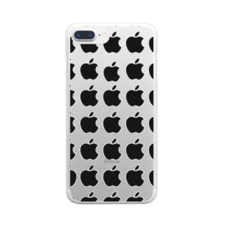 リンゴリンゴ Clear smartphone cases