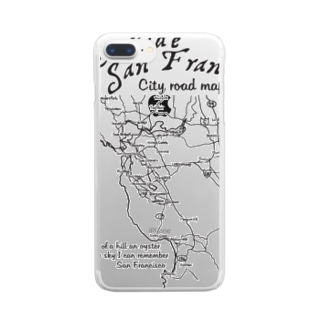 CITY ROAD MAP Clear smartphone cases