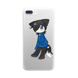 ちびウラのクリアスマホケース Clear smartphone cases