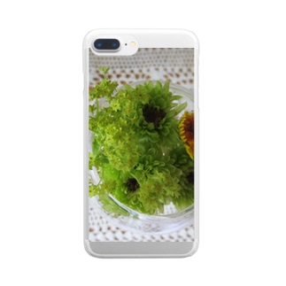 Dreamscapeの若葉色 Clear smartphone cases