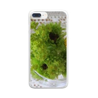 若葉色 Clear smartphone cases