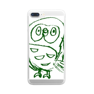 torito・ふくろうグッズ Clear smartphone cases