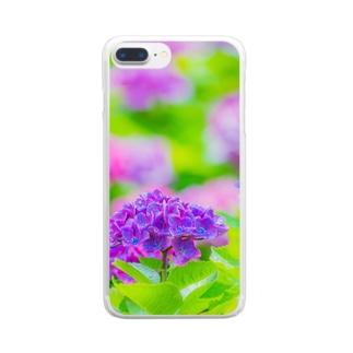 あじさい03 Clear smartphone cases