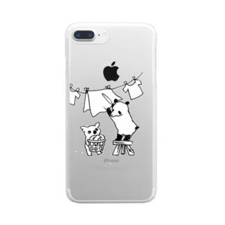 お洗濯偏食ブラザーズ Clear smartphone cases