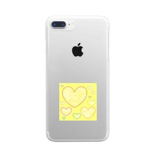 やさしいハート ★ Clear smartphone cases