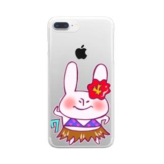 7月のうさぎ Clear smartphone cases