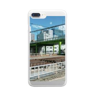 東京の黄緑 Clear smartphone cases