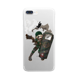 ミリムス盾子 Clear smartphone cases
