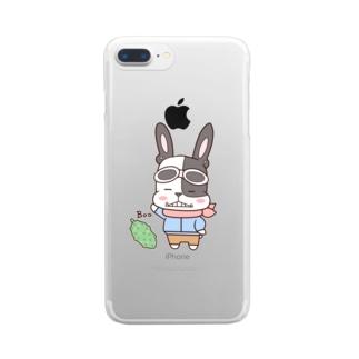 フレンチブルドッグ・パイド Clear smartphone cases